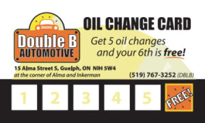 Oil Change Card