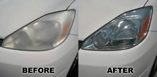 Headlight Restoration Cleaning and Replacement